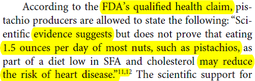 FDA 20Health 20Claim