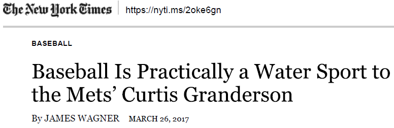 NYT article title
